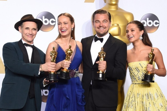Mark Rylance, Brie Larson, Leonardo DiCaprio e Alicia Vikander: os melhores atores, segundo a Academia.